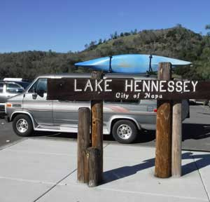Lake Hennessey sign