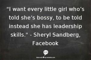 She's not bossy