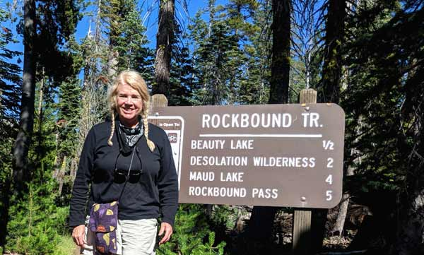 Rockbound Trailhead near Wrights Lake with Anet