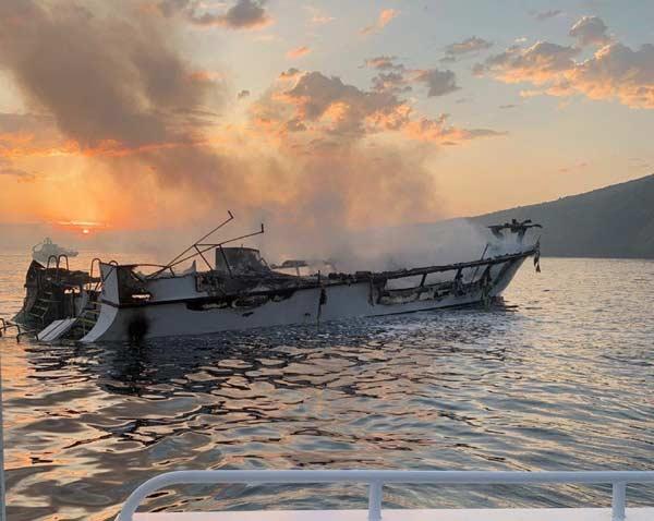 Conception Boat Fire