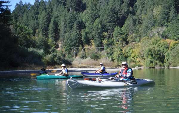 kayakers on russian river