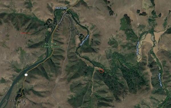 Walker Creek Satellite Map