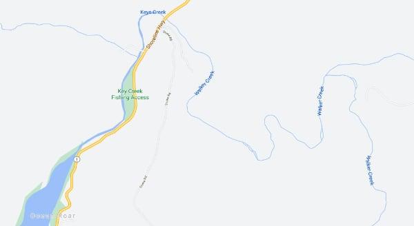 Walker Creek Map