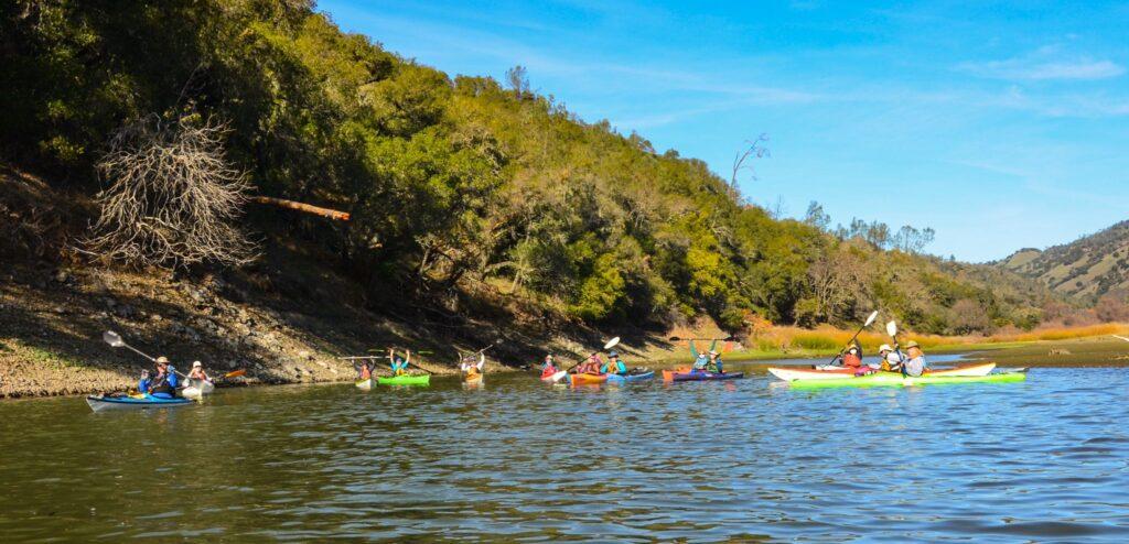 Kayak club at Lake Hennessey