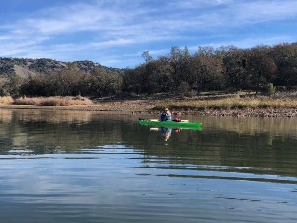 Lake Hennessey kayak